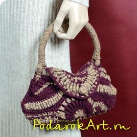 Модная вязаная сумка ручной работы в стиле фриформ