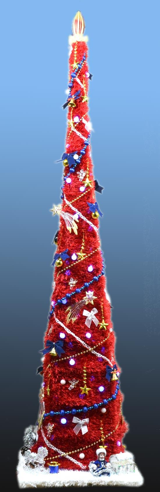 Оригинальная креативная вязанная новогодняя елка искусственная.