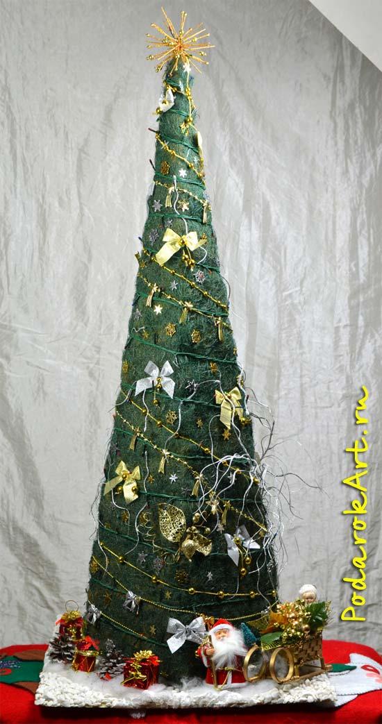 Оригинальная новогодняя елка ручной работы