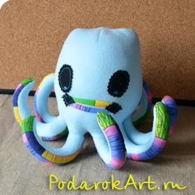 мягкая игрушка осминога