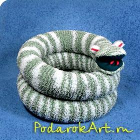 большая мягкая игрушка змеи