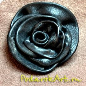 роза из кожи